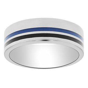 8mm First Responder Wedding Ring in Enamel & Tungsten