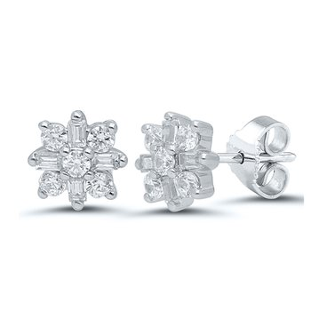 1/4ct tw Diamond Fashion Earrings in 10K White Gold