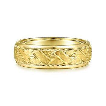 7mm Wedding Ring in 14K Yellow Gold
