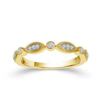 1/8ct tw Diamond Stackable Ring in 10K Yellow Gold