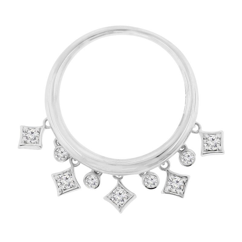 1/3ct tw Diamond Dangle Fashion Ring in 14K White Gold