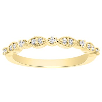 1/8ct tw Diamond Stackable Ring in 14K Yellow Gold