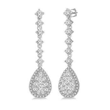 3 7/8ct tw Diamond Thousand Points of Light Earrings in 18K White Gold