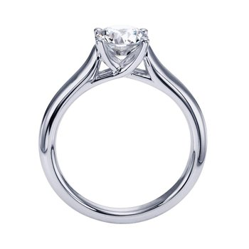 1ct tw Diamond Solitaire Engagement Ring in 14K White Gold