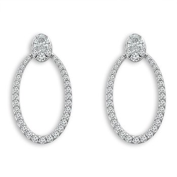 3/8ct tw Diamond Earring Jackets in 14K White Gold