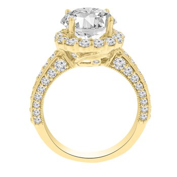 1 1/2ct tw Diamond Halo Engagement Ring Setting in 14K Yellow Gold
