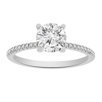 3/4ct tw Diamond Engagement Ring Setting in Platinum