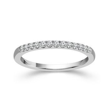 1/6ct tw Diamond WOW Wedding Ring in 14K White Gold