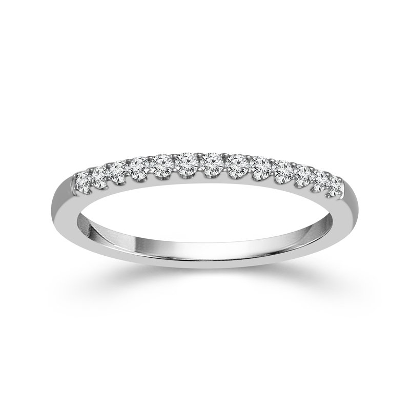 1/6ct tw Diamond WOW Wedding Ring in 14K White Gold