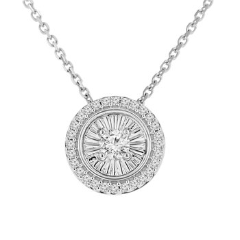 1/4ct tw Diamond Simply Love Collection Necklace in 10K White Gold