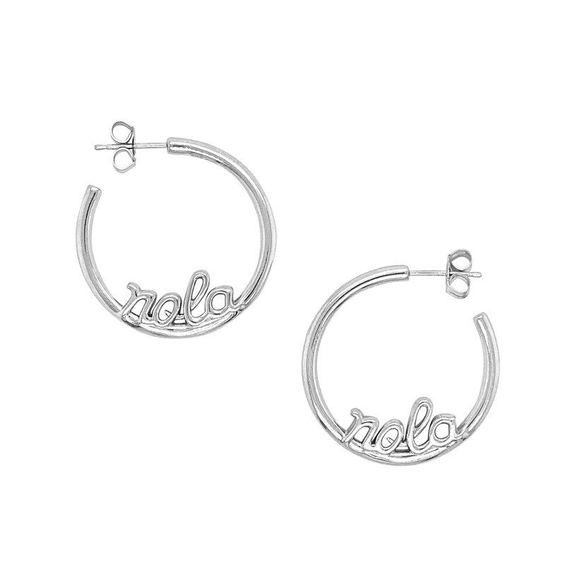 Nola Collection Hoop Earrings in Sterling Silver