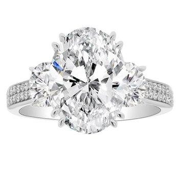 6 1/4ct tw NewBorn Lab Created Diamond Engagement Ring in 18K White Gold