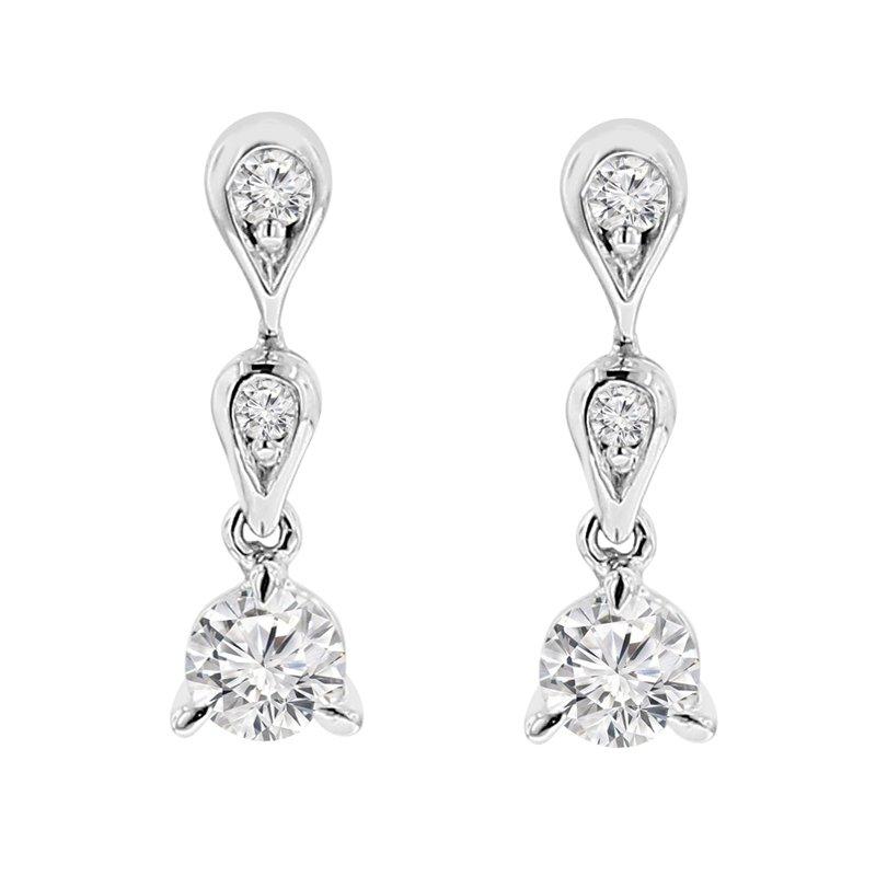 3/8ct tw Diamond Fashion Earrings in 14K White Gold