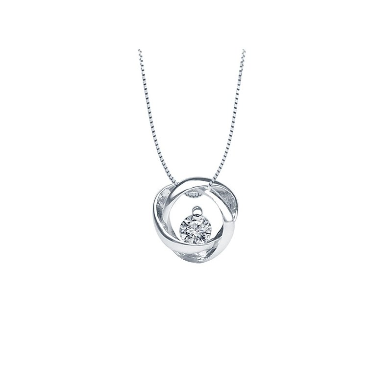 .05ct tw Diamond Time and Eternity Necklace in Sterling Silver