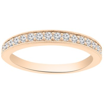 1/3ct tw Diamond Stackable Ring in 14K Rose Gold