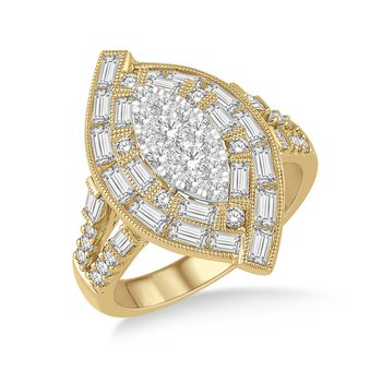 1 3/4ct tw Diamond Thousand Points of Light Fashion Ring in 18K White & Yellow Gold
