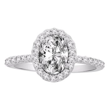 1/3ct tw NewBorn Lab Created Diamond Engagment Ring Setting in 14K White Gold