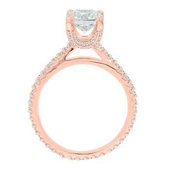 1/2ct tw Ladies NewBorn Lab Created Diamond Engagement Ring Setting in 14K Rose Gold