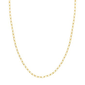 20 Inch Diamond Cut Paperclip Chain Necklace in 14K Yellow Gold