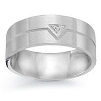 .01ct tw Diamond Wedding Ring in 14K White Gold
