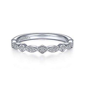 .07ct tw Diamond Wedding Ring in 14K White Gold