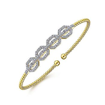 5/8ct tw Diamond Bujukan Bangle Bracelet in 14K Yellow Gold