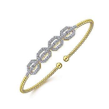 5/8ct tw Diamond Bujukan Bangle Bracelet in 14K Yellow Gold