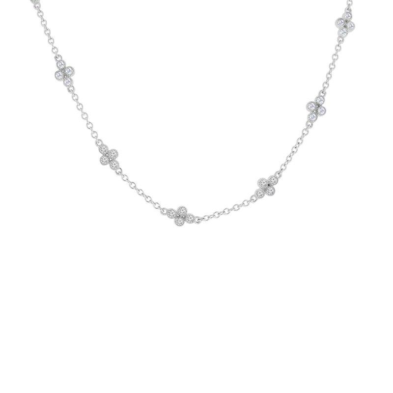 3/4ct tw Diamond Fashion Necklace in 14K White Gold