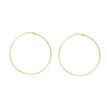 55mm Hoop Earrings in 10K Yellow Gold