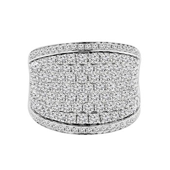 2 7/8ct tw Diamond Fashion Ring in 14K White Gold