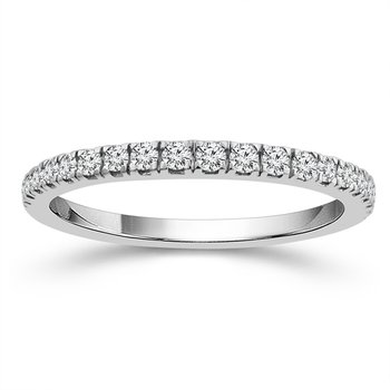 1/4ct tw Diamond Wedding Ring in 10K White Gold
