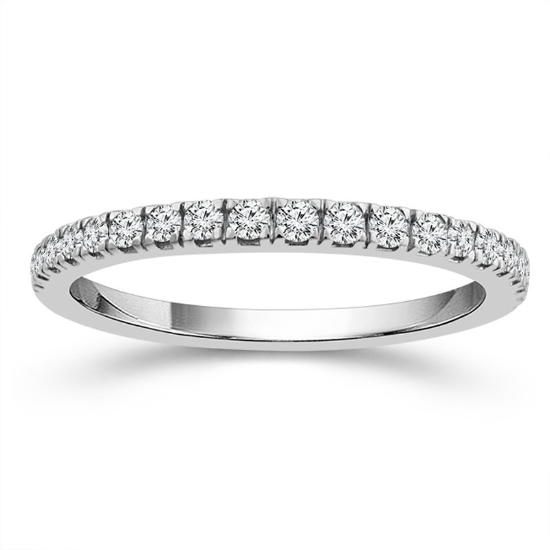 1/4ct tw Diamond Wedding Ring in 10K White Gold