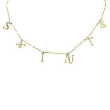 .03ct tw Fleur De Lis Necklace in 10K Yellow Gold