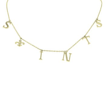 .03ct tw Fleur De Lis Necklace in 10K Yellow Gold
