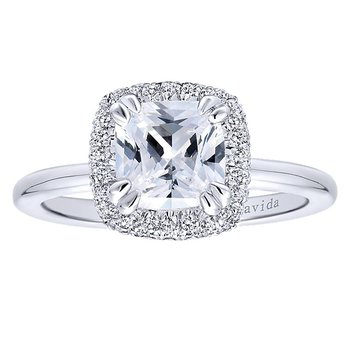 1 7/8ct tw Diamond Halo Engagement Ring in 18K White Gold