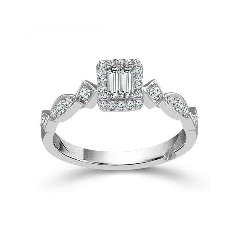 1/4ct tw Diamond True Promise Engagement Ring in 10K White Gold