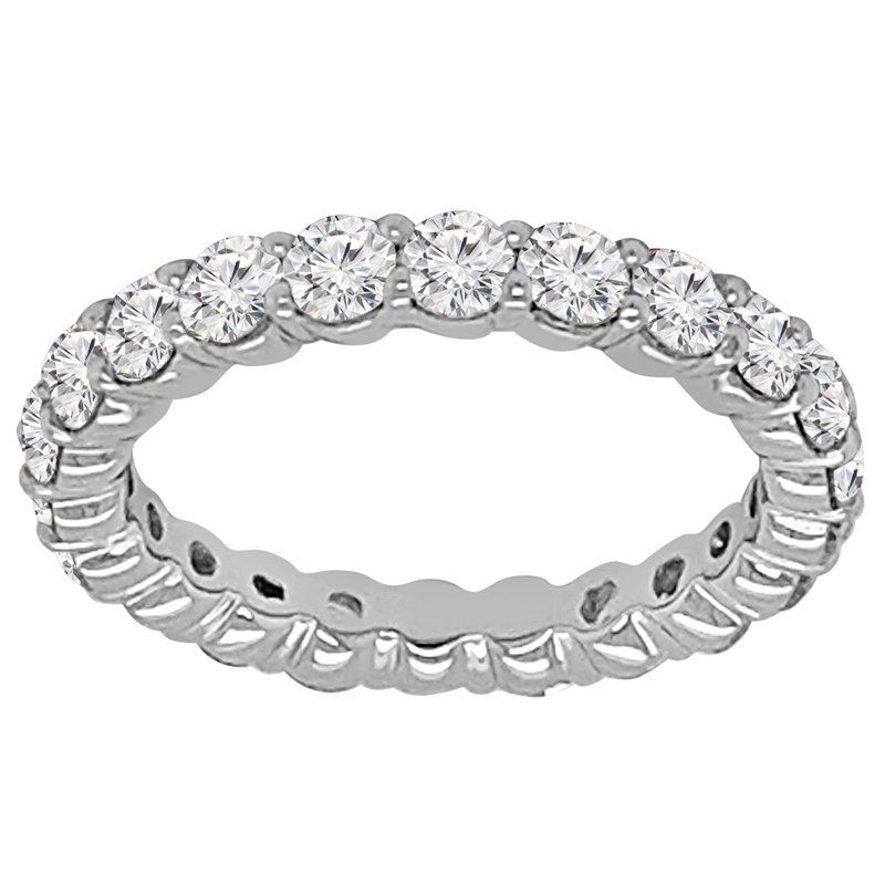 2 1/4ct tw NewBorn Lab Created Diamond Eternity Ring in 14K White Gold