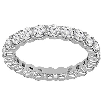 2 1/4ct tw NewBorn Lab Created Diamond Eternity Ring in 14K White Gold