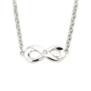 .01ct tw Diamond Together Forever Necklace in Sterling Silver