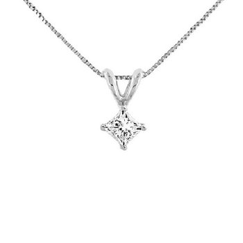 1/2ct tw Diamond Solitaire Necklace in 14K White Gold
