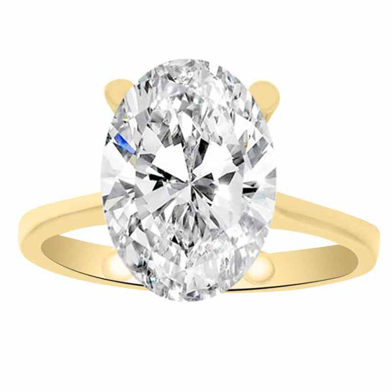 Solitiare Engagement Ring Setting in 14K Yellow Gold