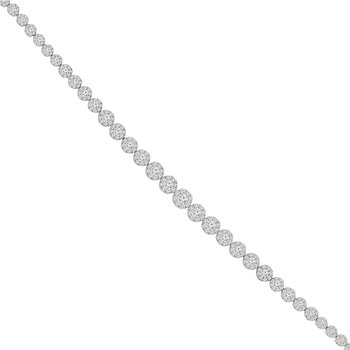 5ct tw Diamond Thousand Points of Light Bracelet in 14K White Gold