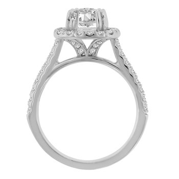 5/8ct tw NewBorn Lab Created Diamond Engagement Ring Setting in 14K White Gold