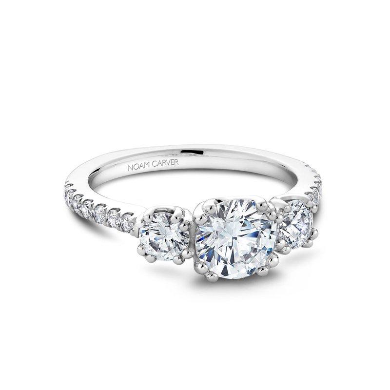 1 3/4ct tw Diamond Three Stone Engagement Ring in 14K White Gold