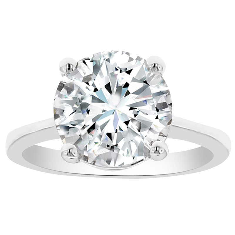 4ct tw NewBorn Lab Created Diamond Solitaire Engagement Ring in 14K White Gold