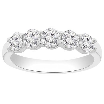 1ct tw NewBorn Lab Created Diamond Wedding Ring in 14K White Gold