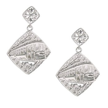 Nola Collection Streetcar Earrings in Sterling Silver