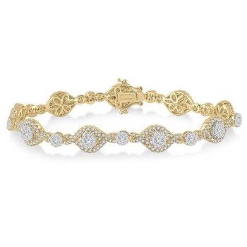 3 1/4ct tw Diamond Thousand Points of Light Bracelet in 18K White & Yellow Gold