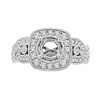 3/4ct tw Diamond Together Forever Engagement Ring Setting in 14K White Gold