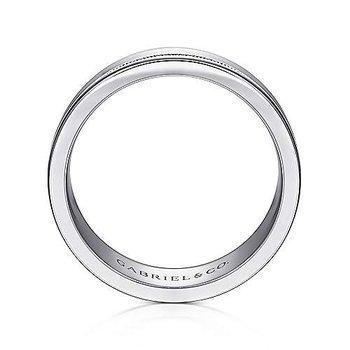 7mm Wedding Ring in 14K White Gold